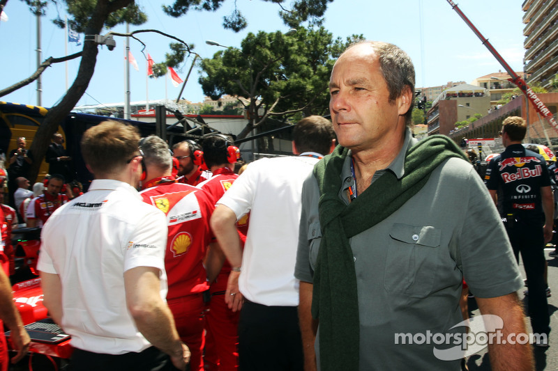Gerhard Berger, on the grid