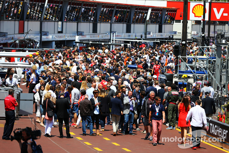 The pit lane walkabout