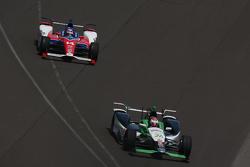 Carlos Munoz, Andretti Autosport Honda and Takuma Sato, A.J. Foyt Enterprises