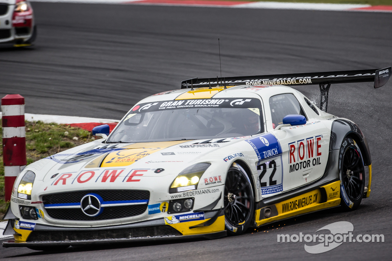 #22 Rowe Racing, Mercedes-Benz SLS AMG GT3: Maro Engel, Jan Seyffarth, Renger van der Zande, Thomas