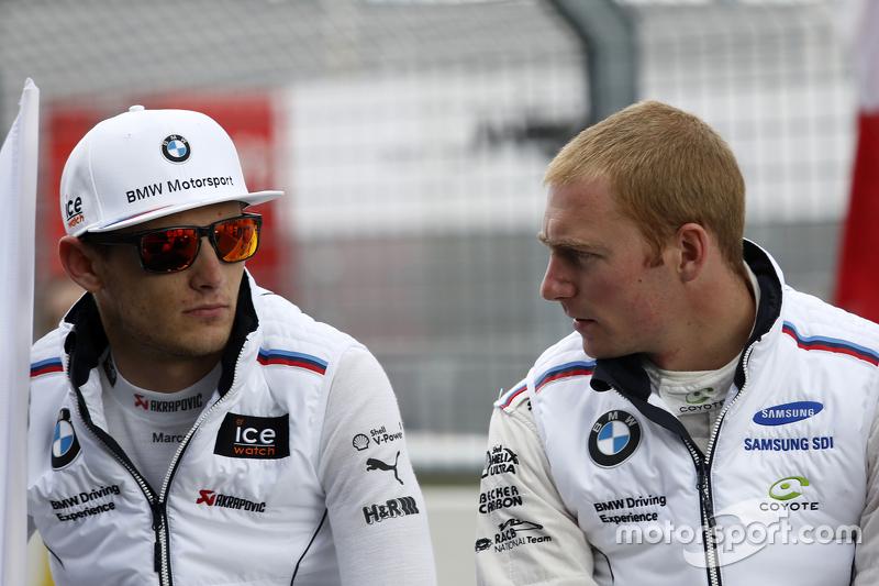 Marco Wittmann, BMW Team RMG BMW M4 DTM and Maxime Martin, BMW Team RMG BMW M4 DTM