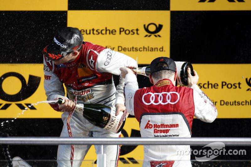 Podium: Edoardo Mortara, Audi Sport Team Abt, Audi RS 5 DTM, und Jamie Green, Audi Sport Team Rosber