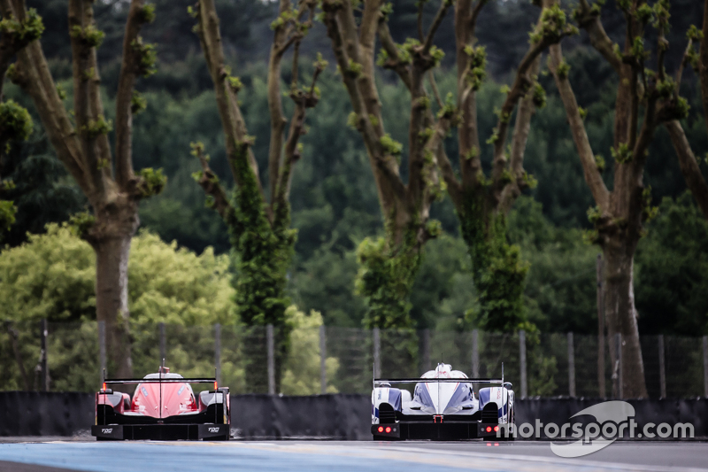 #12 Rebellion Racing, Rebellion R-One: Nicolas Prost, Nick Heidfeld, Mathias Beche und #1 Toyota Rac