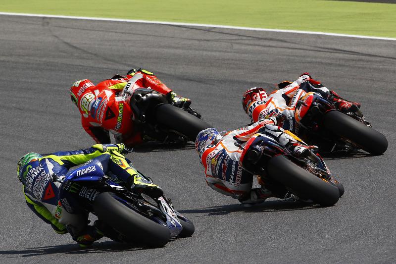 Andrea Iannone, Ducati Team dan Marc Marquez and Dani Pedrosa, Repsol Honda Team
