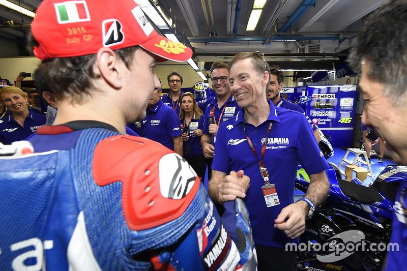 1. Jorge Lorenzo und Lin Jarvis, Yamaha Factory Racing