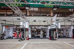 Porsche Team, Boxenbereich