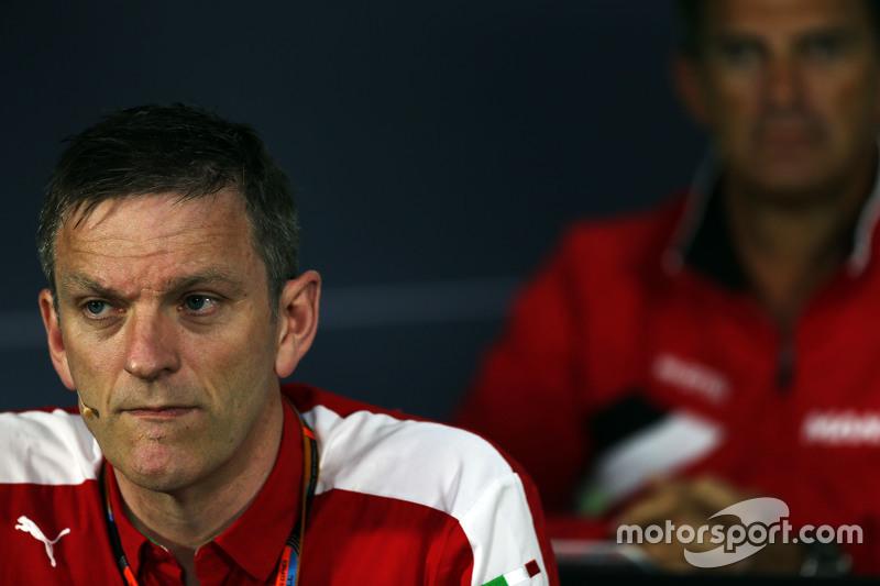 Джеймс Эллисон, директор по шасси команды Ferrari на пресс-конференции FIA