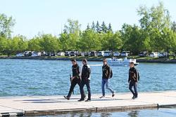 Federico Gastaldi, Lotus F1 Team Deputy Team Principal, and Jolyon Palmer, Lotus F1 Team Test and Reserve Driver