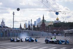 Jarno Trulli, Trulli en Antonio Felix da Costa, Amlin Aguri en Justin Wilson, Andretti Autosport