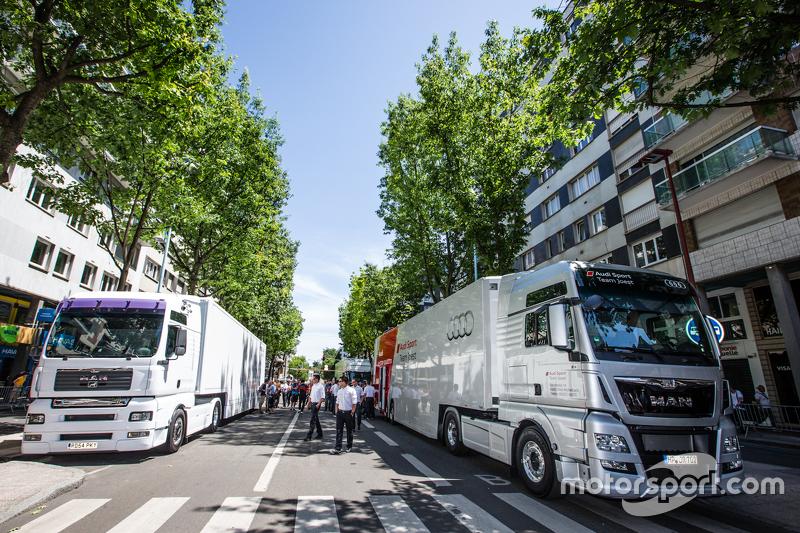 Audi Sport Team Joest, Transporter