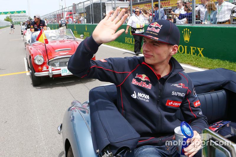 Max Verstappen, Scuderia Toro Rosso geçit töreninde