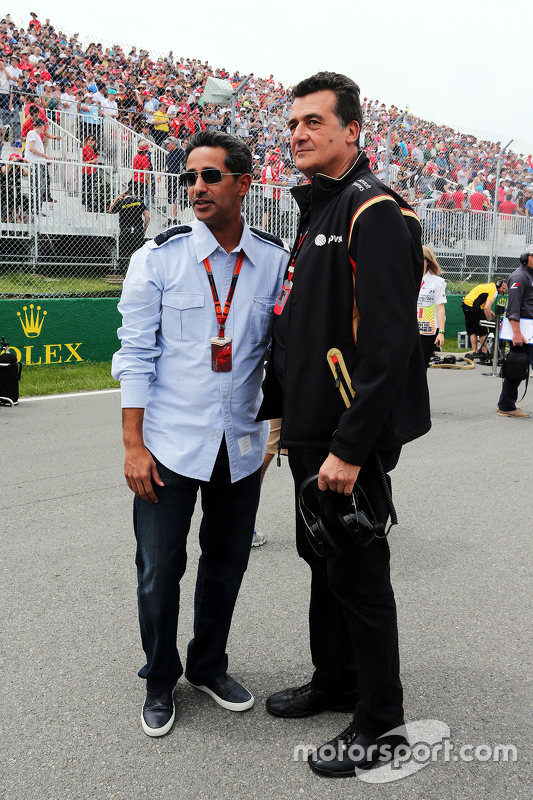 Federico Gastaldi, vice diretor da Lotus F1 Team no grid