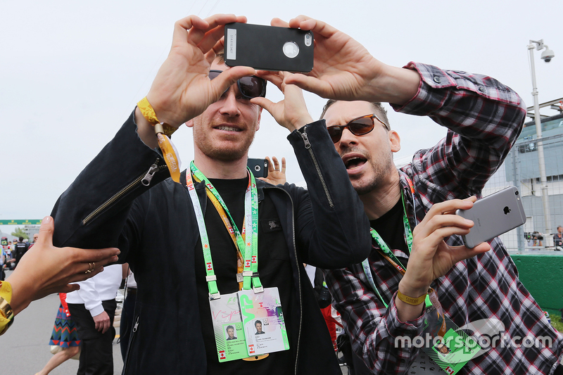 Michael Fassbender, Actor with Bryan Singer, Film Director, on the grid