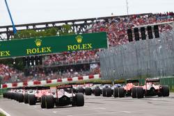 Макс Ферстаппен, Scuderia Toro Rosso STR10, на старте гонки