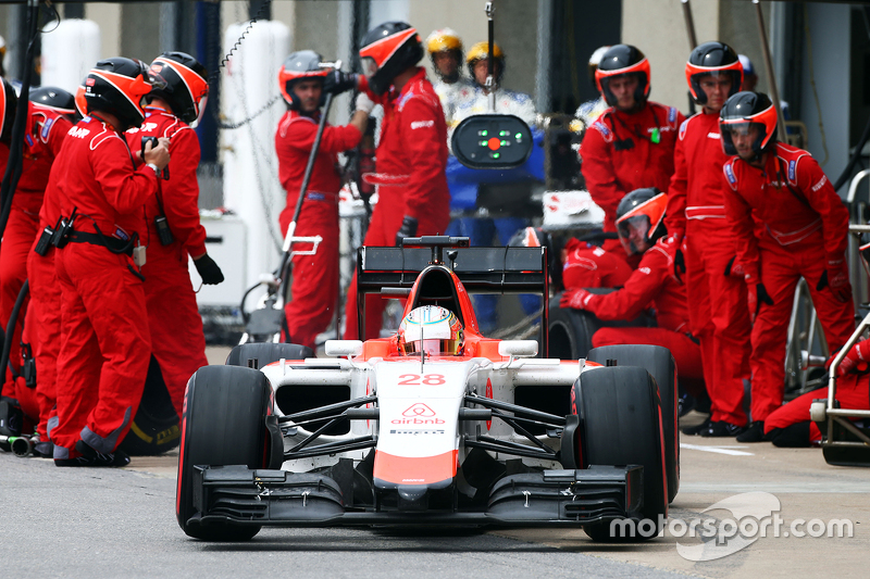 Will Stevens, Manor Marussia F1 Team hace una parada en boxes