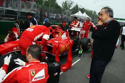 Серджио Маркионне, президент Ferrari и генеральный директор Fiat Chrysler Automobiles на стартовой р