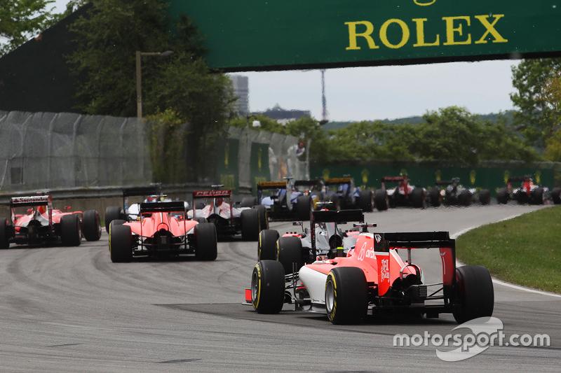 Will Stevens, Manor Marussia F1 Team, alla partenza della gara