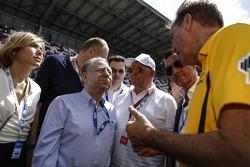 Президент FIA Жан Тодт, руководитель проекта Moscow Raceway Екатерина Бельцевич, президент РАФ Виктор Кирьянов
