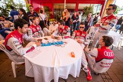 Audi Sport Team Joest: Lucas Di Grassi, René Rast, Marcel Fässler, Oliver Jarvis, Andre Lotterer, Filipe Albuquerque and Loic Duval