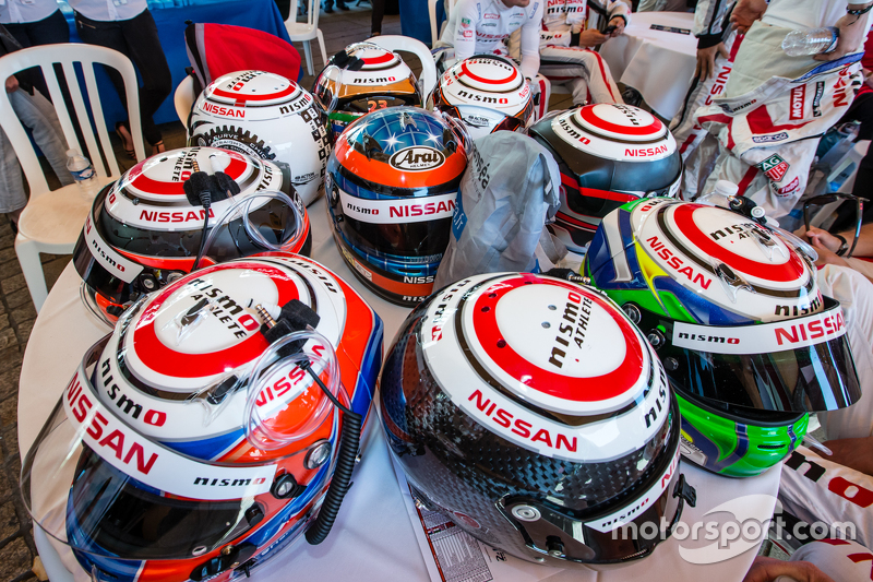 Nissan Motorsports: drivers helmets