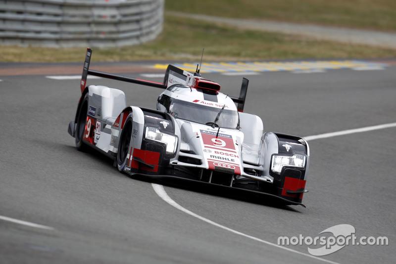 #9 Audi Sport Team Joest Audi R18 e-tron quattro: Рене Раст, Філіпе Альбукерке, Марко Бонаномі