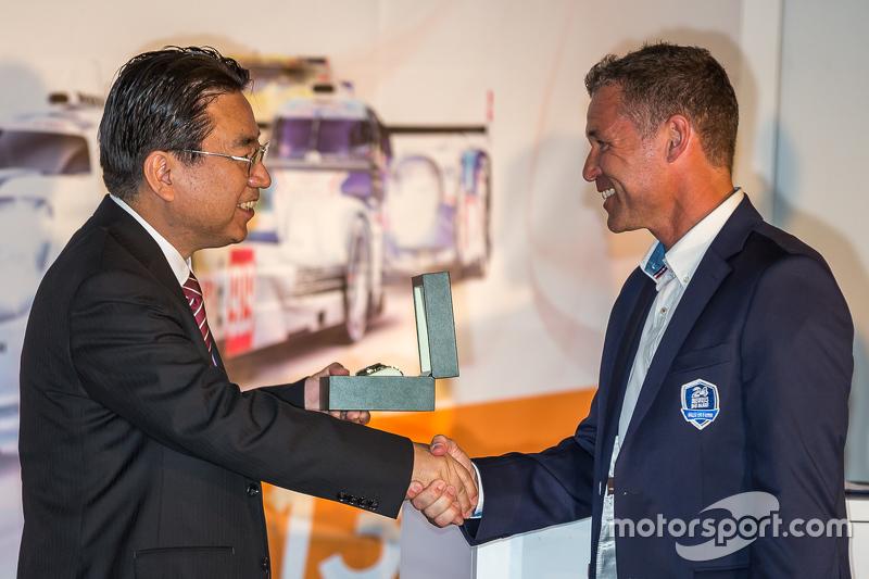 Yoshiaki Kinoshita, Spirit of Le Mans winner та Grand Marshal Том Крістенсен