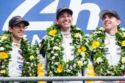 LMGT Pro podium: class winners #64 Corvette Racing Corvette C7.R: Jordan Taylor, Oliver Gavin, Tommy Milner