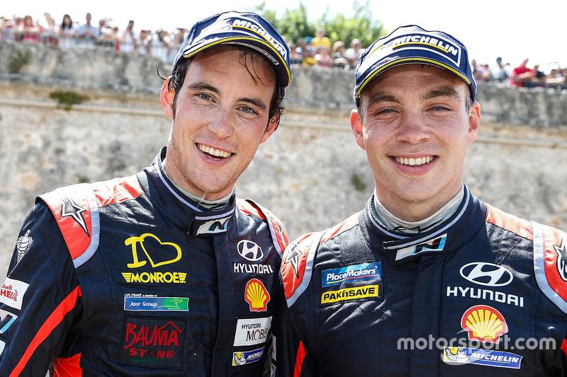 3. Thierry Neuville und 2. Hayden Paddon
