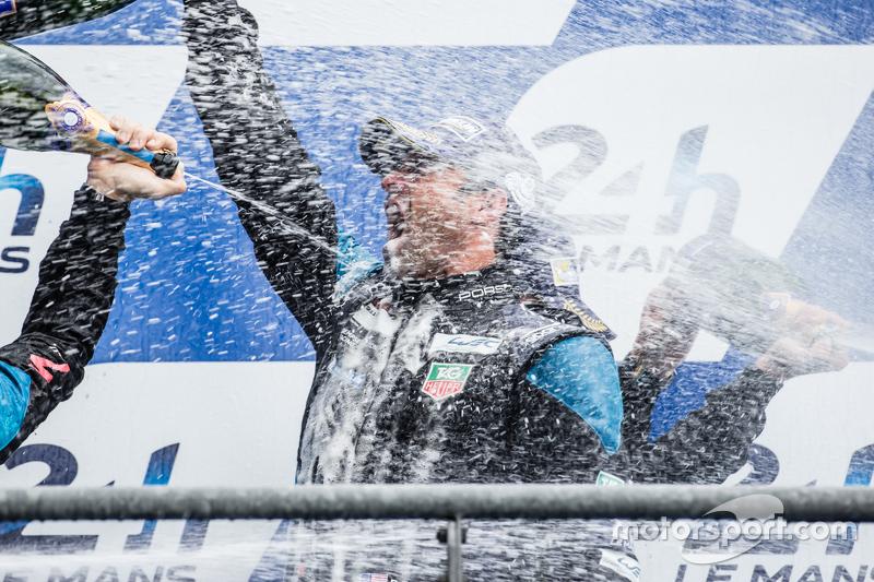 LMGT-Am-Podium: Champagner für Patrick Dempsey