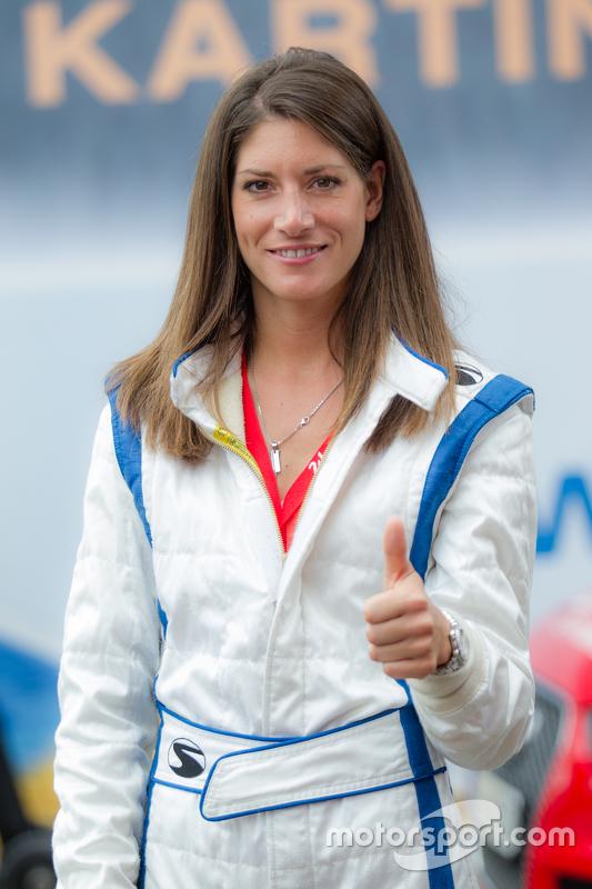 Race car driver, dan RTL Germany reporter Cyndie Allemann