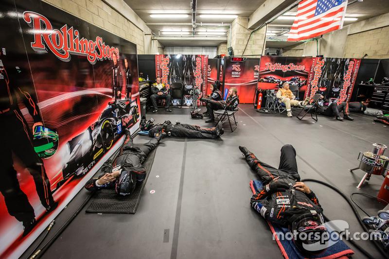 Extreme Speed Motorsports team members take sleep between pit stops