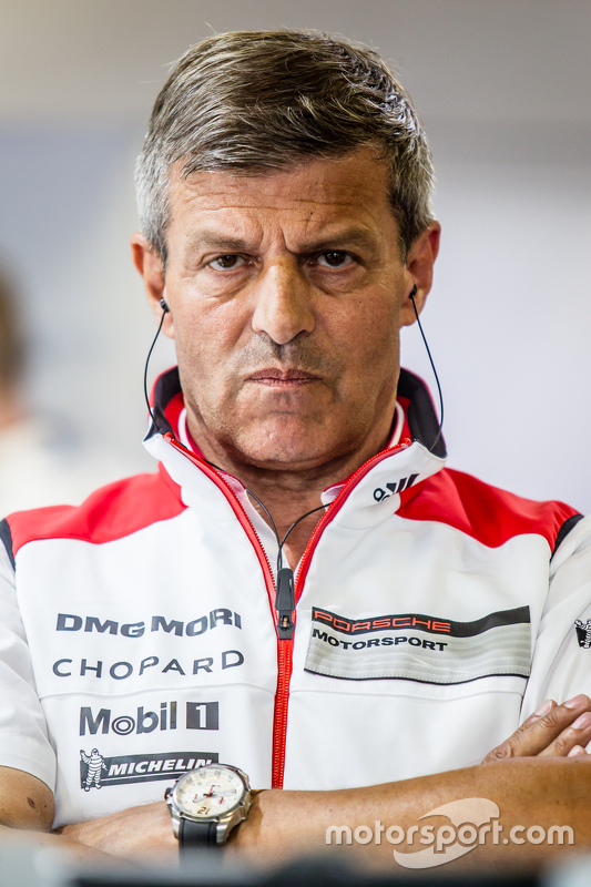 Porsche Team: Fritz Enzinger, Head of Department, LMP1