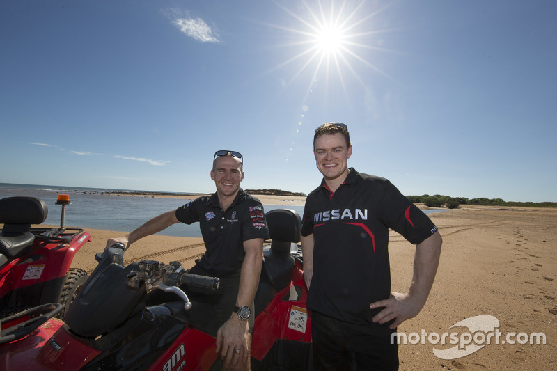 Lee Holdsworth, Walkinshaw Performance Holden and James Moffat, Nissan Motorsport go four-wheeling