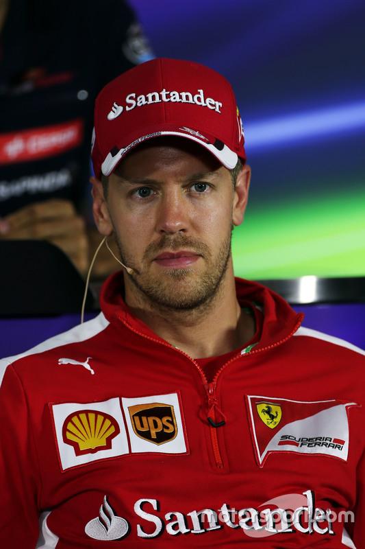Sebastian Vettel, Ferrari di FIA Press Conference