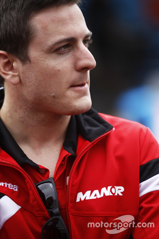 Fabio Leimer im GP2-Fahrerlager