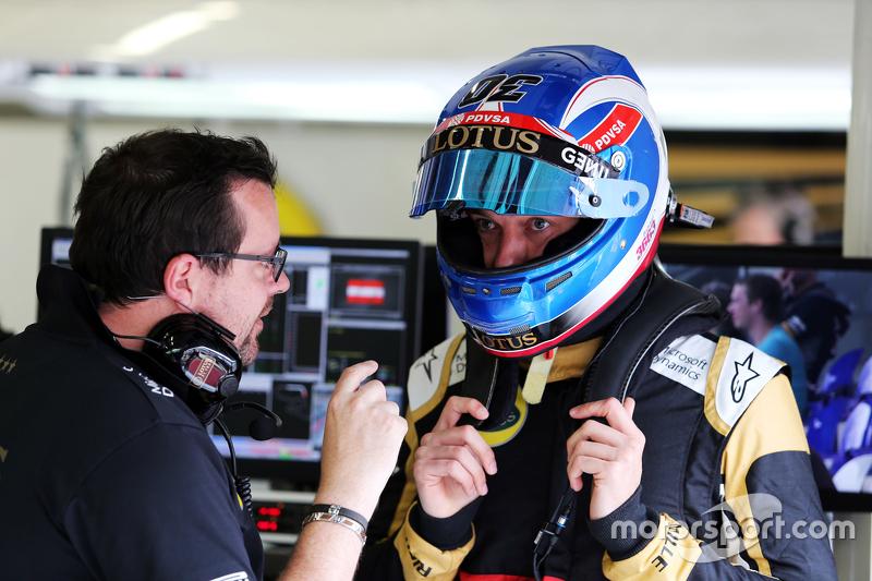 Julien Simon-Chautemps, Lotus F1 Team, Renningenieur, mit Jolyon Palmer, Lotus F1 Team, Test- und Ersatzfahrer