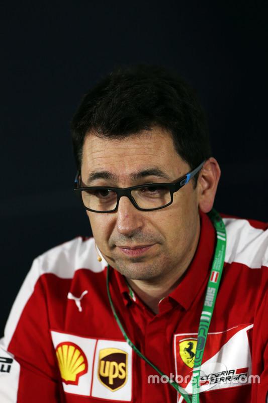 Mattia Binotto, Ferrari, na coletiva de imprensa da FIA
