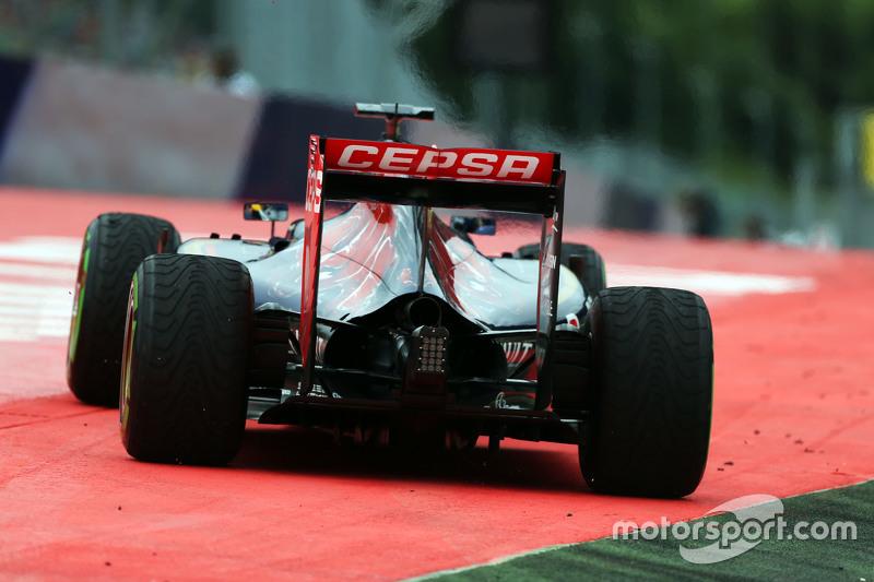Макс Ферстаппен, Scuderia Toro Rosso STR10 широко заїхав
