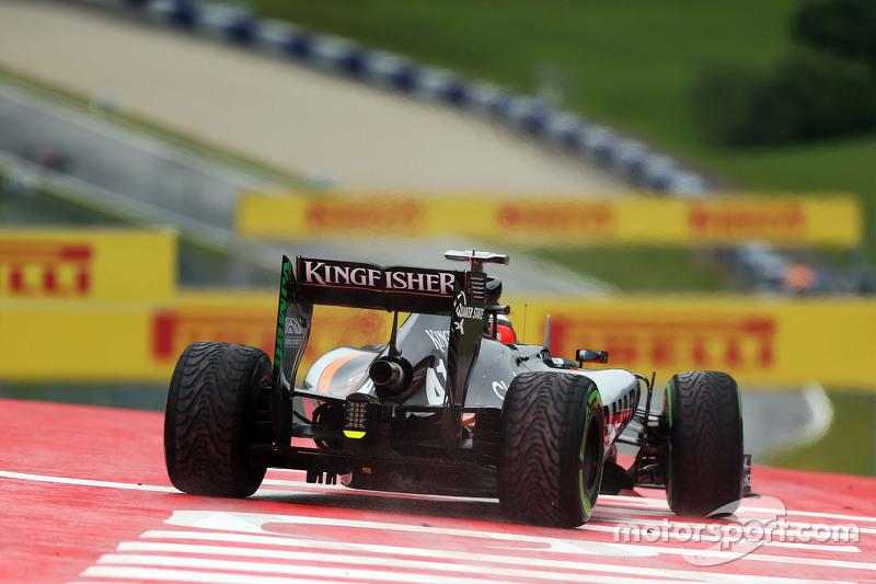 Ніко Хюлкенберг, Sahara Force India F1 VJM08 широко заїхав