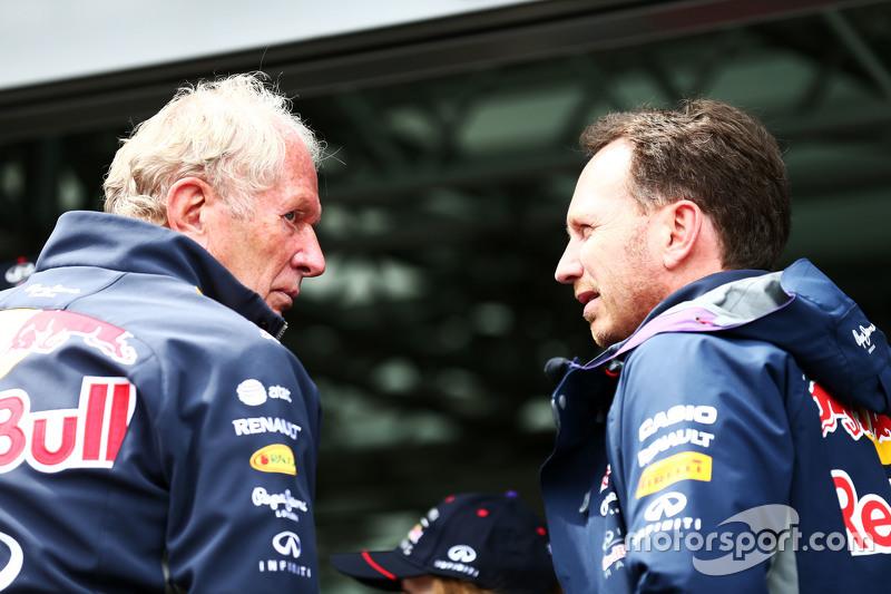 Dr Helmut Marko, consultant Red Bull Motorsport avec Christian Horner, Red Bull Racing, Team Principal