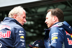 Dr. Helmut Marko, Red Bull Motorsport, Berater, mit Christian Horner, Red Bull Racing, Teamchef