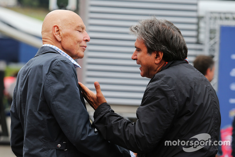 Peter Brabeck-Letmathe, Formula One Chairman with Pasquale Lattuneddu, of the FOM