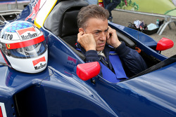 Jean Alesi, in the Sauber C14 at the Legends Parade