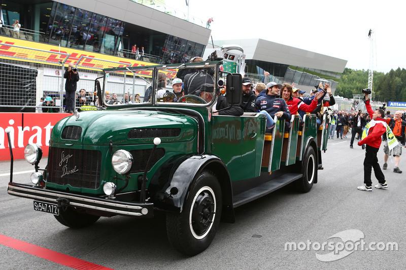 Der Truck für die Fahrerparade
