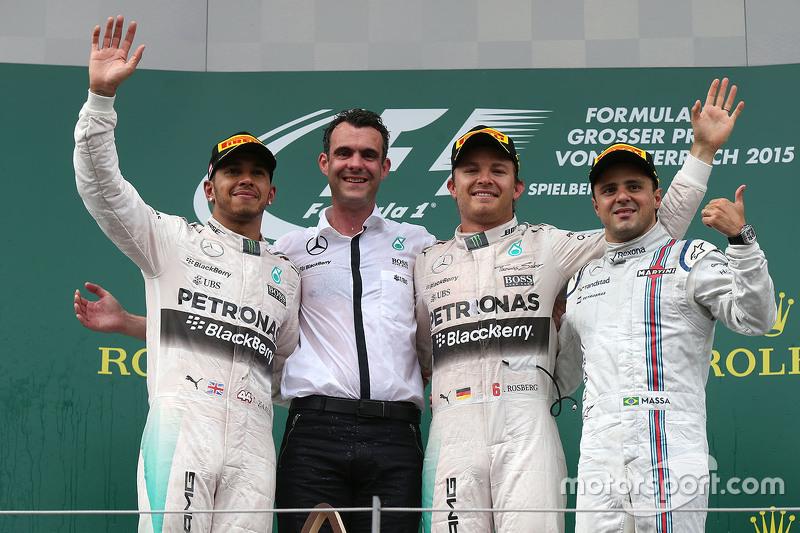 Podium: 1. Nico Rosberg, 2. Lewis Hamilton, 3. Felipe Massa