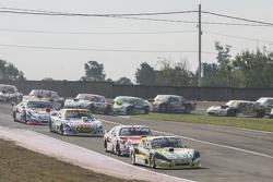 Omar Martinez, Martinez Competicion, Ford; Matias Rossi, Donto Racing, Chevrolet; Mauricio Lambiris, Coiro Dole Racing, Torino, und Christian Ledesma, Jet Racing, Chevrolet