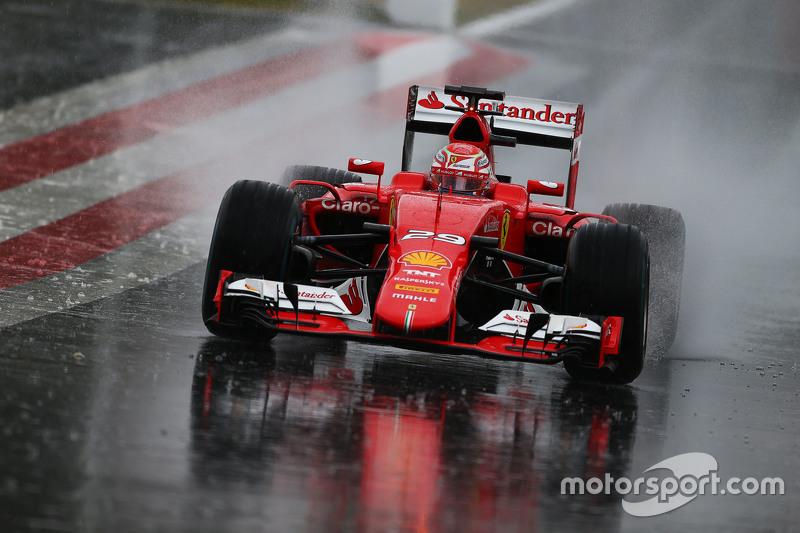 Antonio Fuoco, Ferrari SF15-T di tengah hujan lebat