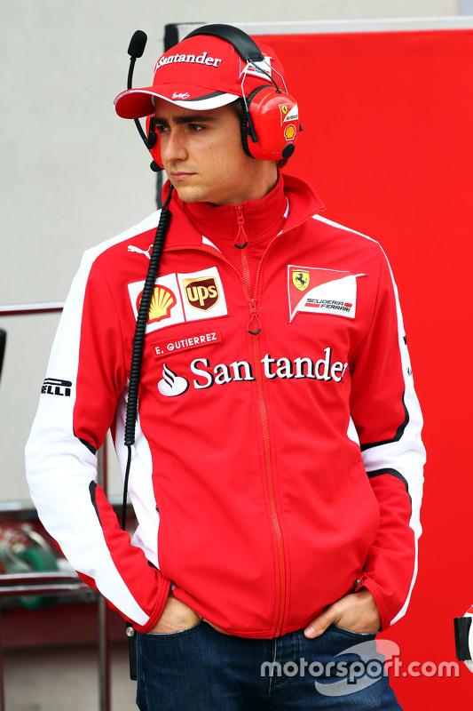 Esteban Gutierrez, Test- und Ersatzfahrer bei Ferrari