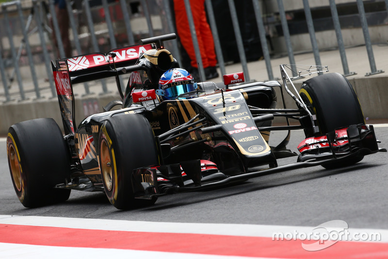 Jolyon Palmer, Lotus F1 E23 Test and Reserve Driver running sensor equipment