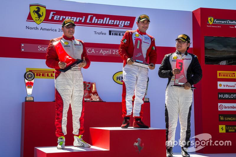 Podium: 1. #1 Ferrari of Houston, Ferrari 458: Ricardo Perez, 2. #99 Ferrari of Vancouver, Ferrari 4